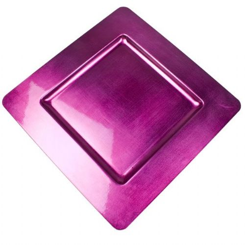 CERISE PINK Square Charger Plate / Underplate